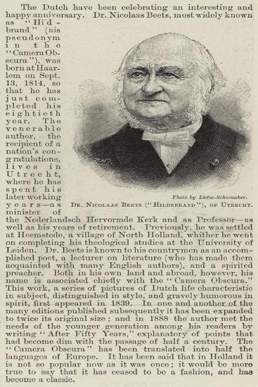 Dr Nicolaas Beets (Hildebrand), of Utrecht--Giclee Print