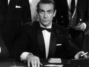 Dr No by Terence Young with Sean Connery, 1962 (b/w photo)