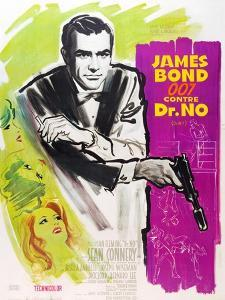 Dr. No, Sean Connery on French poster art, 1962
