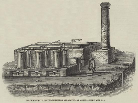 Dr Normandy's Water-Distilling Apparatus, at Aden--Giclee Print