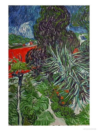 Dr. Paul Gachet's Garden at Auvers-Sur-Oise, c.1890-Vincent van Gogh-Giclee Print
