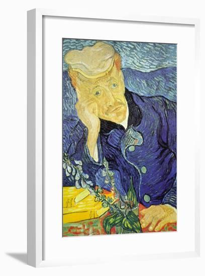 Dr. Paul Gachet-Vincent van Gogh-Framed Art Print