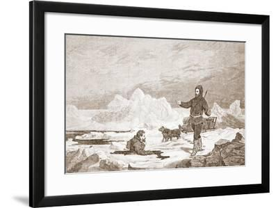 Dr Repes Falls Through the Ice, 1876--Framed Giclee Print