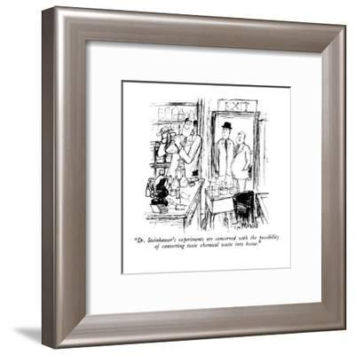 """""""Dr. Steinhauser's experiments are concerned with the possibility of conve?"""" - New Yorker Cartoon-Joseph Mirachi-Framed Premium Giclee Print"""