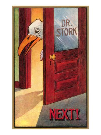 Dr. Stork, Next!--Art Print