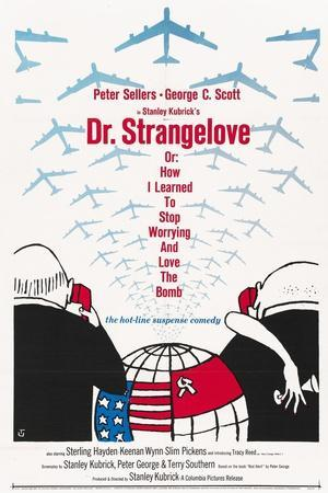 """""""Dr. Strangelove Or: How I Learned To Stop Worrying And Love the Bomb"""" 1964, by Stanley Kubrick--Giclee Print"""