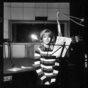 Sylvie Vartan Recording in a Studio by DR