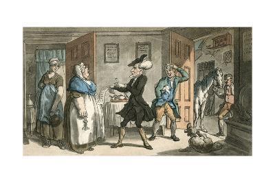 Dr Syntax Disputing His Bill with the Landlady-Thomas Rowlandson-Giclee Print
