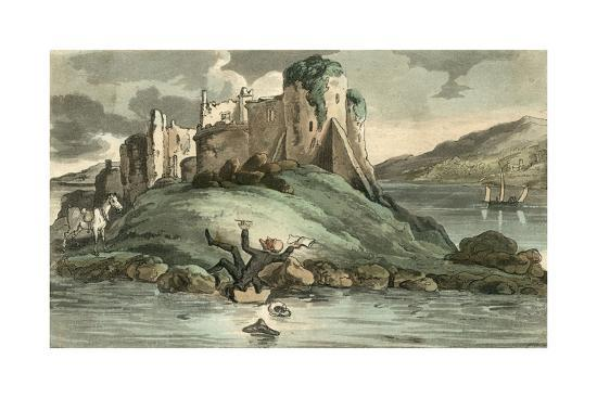 Dr Syntax Tumbling into the Water-Thomas Rowlandson-Giclee Print