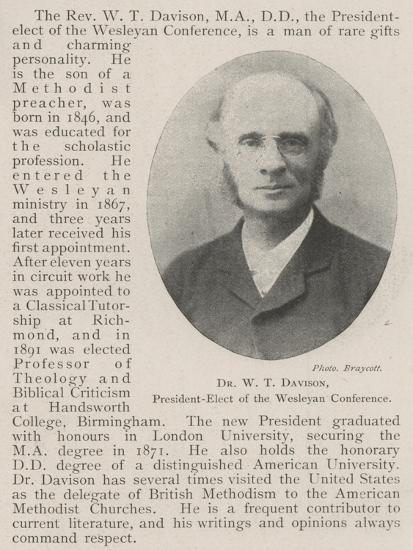 Dr W T Davison, President-Elect of the Wesleyan Conference--Giclee Print