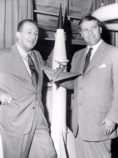 Dr Werhner Von Braun with Walt Disney--Photo