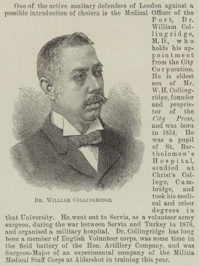 Dr William Collingridge--Giclee Print