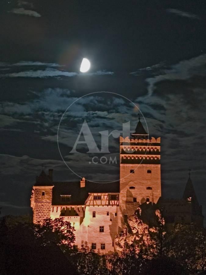 Dracula Castle At Night Bran Castle Transylvania Romania