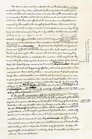Draft of the Declaration of Independence in Jefferson's Handwriting, Page 4