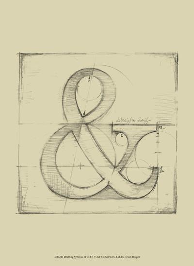 Drafting Symbols II-Ethan Harper-Art Print