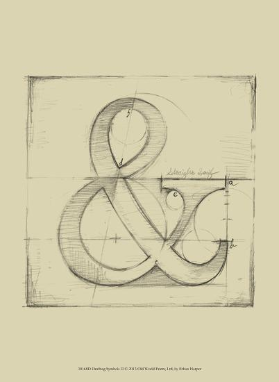 Drafting Symbols II-Ethan Harper-Art Print