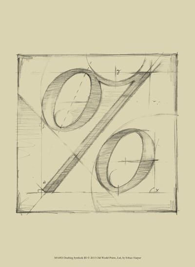 Drafting Symbols III-Ethan Harper-Art Print