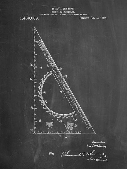 Drafting Triangle 1922 Patent-Cole Borders-Art Print