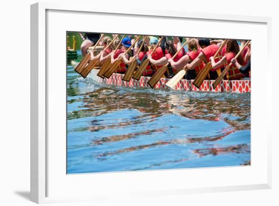 Dragon Boat- oceanfishing-Framed Photographic Print