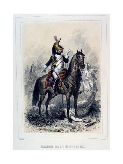 Dragon De L'Imperatice, (Light Dragoon), 1859-Auguste Raffet-Giclee Print