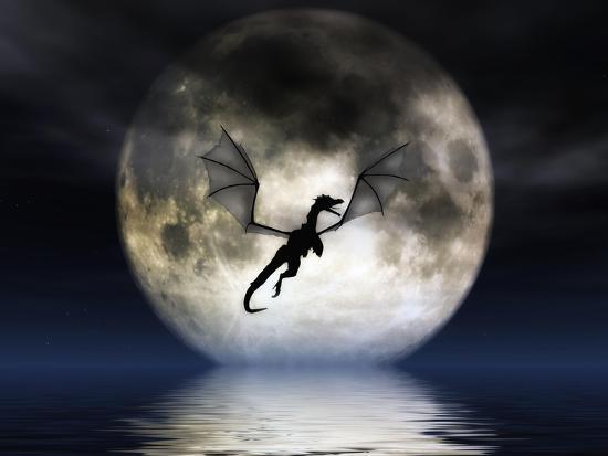 Dragon Moon-Julie Fain-Art Print