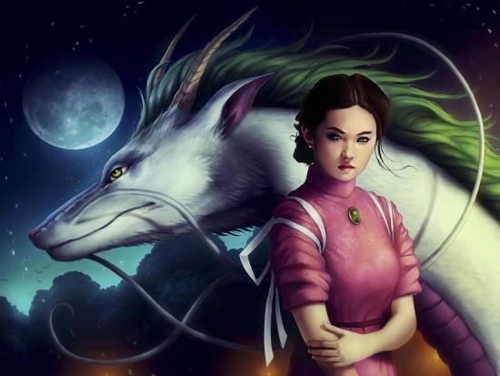 Dragon Night-JoJoesArt-Giclee Print