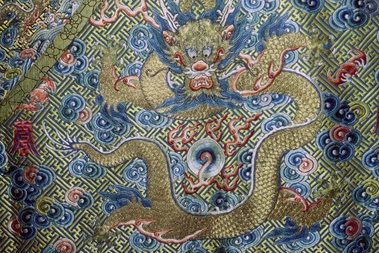 Dragon on a nineteenth century Court Robe, 19th century. Artist: Unknown-Unknown-Photographic Print