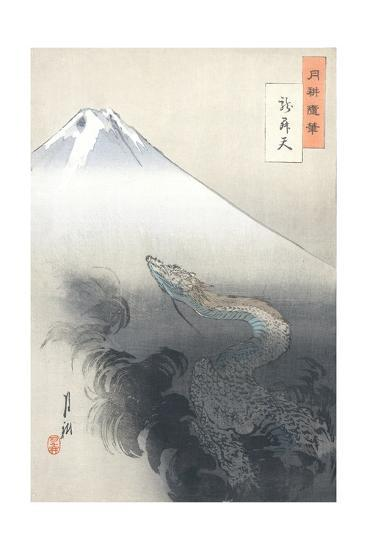 Dragon Rising to the Heavens-Ogata Gekko-Giclee Print