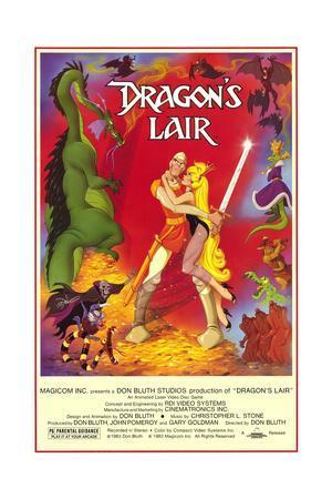 65477 Dragon Lair Movie Bob Sarlatte Wall Print POSTER CA