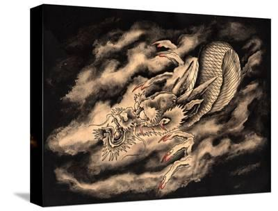 Dragon & Smoke-Clark North-Stretched Canvas Print