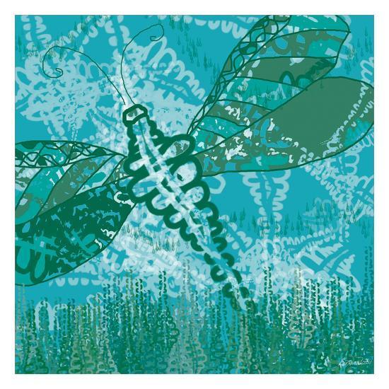 Dragonfly Field 2-Lorraine Rossi-Art Print
