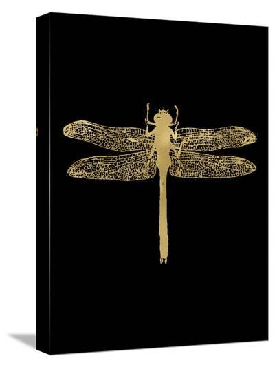 Dragonfly Golden Black-Amy Brinkman-Stretched Canvas Print