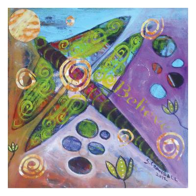Dragonfly In Bloom-Shannon Crandall-Art Print