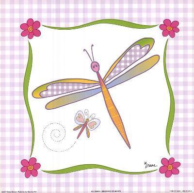 Dragonfly of Hearts-Diane Stimson-Art Print