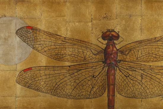Dragonfly on Gold-Patricia Pinto-Premium Giclee Print