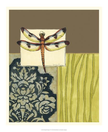 Dragonfly Tapestry IV-Jennifer Goldberger-Premium Giclee Print