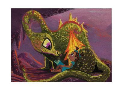 DragonRead CaraKozik-Cara Kozik-Art Print