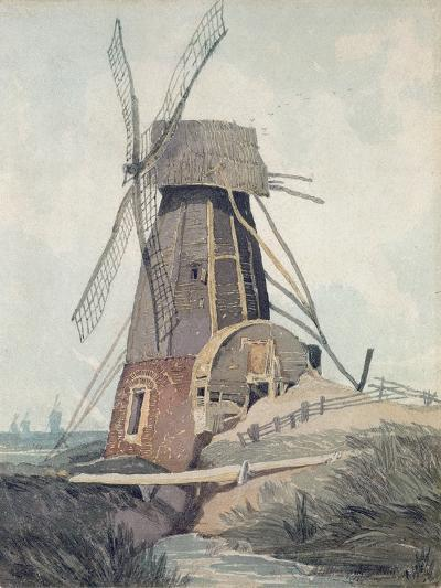 Draining Mill in Lincolnshire, 1807-08-John Sell Cotman-Giclee Print