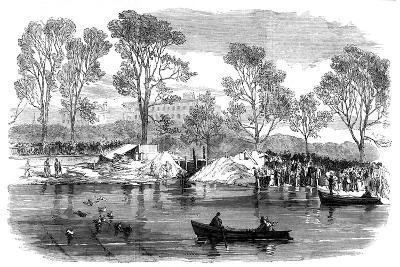 Draining the Serpentine River, Hyde Park, London, 1869--Giclee Print