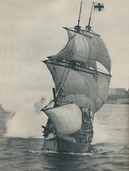 'Drake's flagship on his voyage round the world, replica', 1937-Unknown-Photographic Print