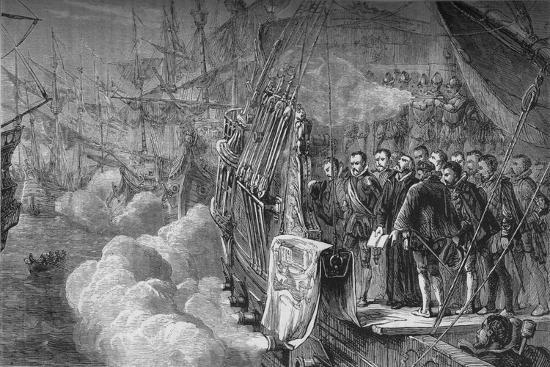 'Drake's Funeral', January 1596, (c1880)-Unknown-Giclee Print