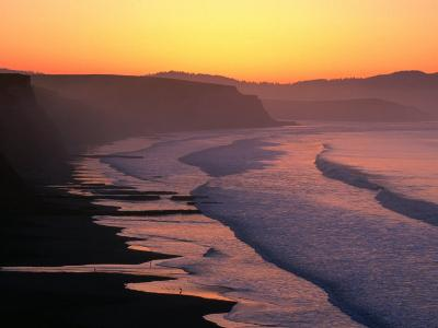 Drakes Bay at Sunrise, Point Reyes National Seashore, USA-John Elk III-Photographic Print