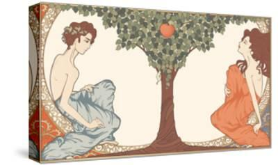 Adam and Eve, Art-Nouveau Style