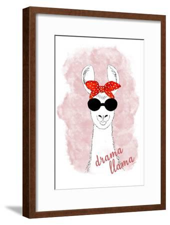 Drama Llama-Ramona Murdock-Framed Art Print
