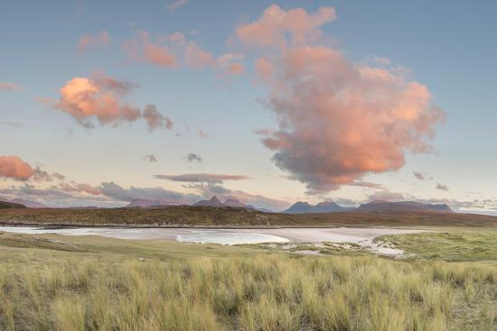 Dramatic Cloud over Achnahaird Bay and the Mountains of Assynt, North West Scotland-Stewart Smith-Photographic Print