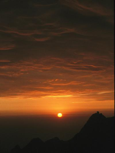 Dramatic High Altitude Sunset in the Andes Mountains-David Evans-Photographic Print