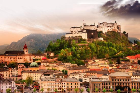 Dramatic Landscape before a Sunset over Salzburg, Austria-Maugli-l-Photographic Print
