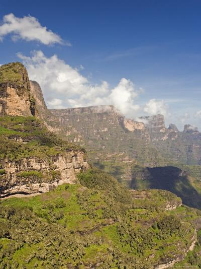Dramatic Mountain Scenery from the Area Around Geech, the Ethiopian Highlands, Ethiopia-Gavin Hellier-Photographic Print
