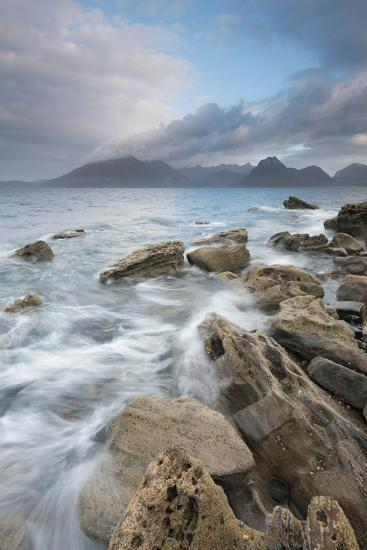Dramatic Skies over Incoming Tide at Elgol, Loch Scavaig, Isle of Skye, Scotland-Stewart Smith-Photographic Print