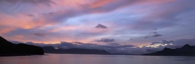 Dramatic Sky at Sunrise over Cumberland Bay, Island of South Georgia-Paul Sutherland-Photographic Print
